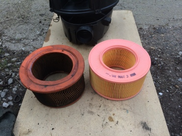 Air Filter old and new