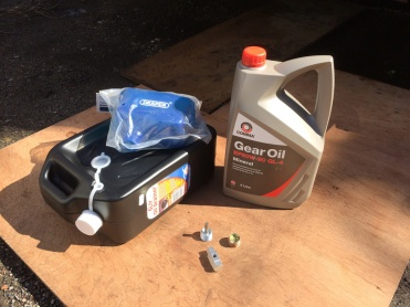 Funnel, Drain Pan, Gear Oil, Plugs and Key