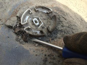 Fuel Gauge Sensor covered in dirt