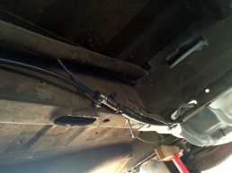 Return Feed secured to chassis