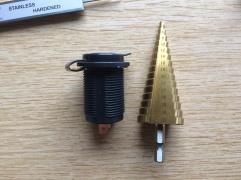 Blue Sea USB socket and step drill bit