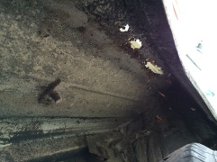 Wheel arch holes from below