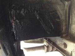 Repair plate welded to platform tray