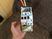 240v fuse box with cover removed