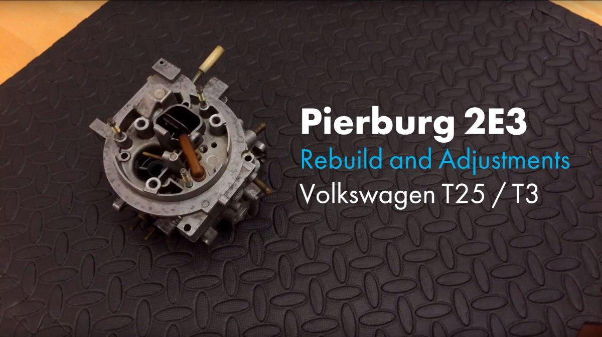 Carburetor Adjustment Pierburg 2е3 - fasrphone