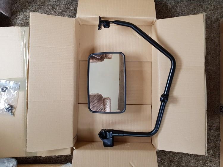 Truck mirror and bracket
