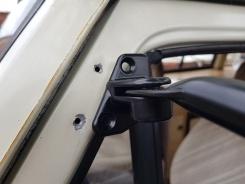 Self-tapped holes for upper bracket screws