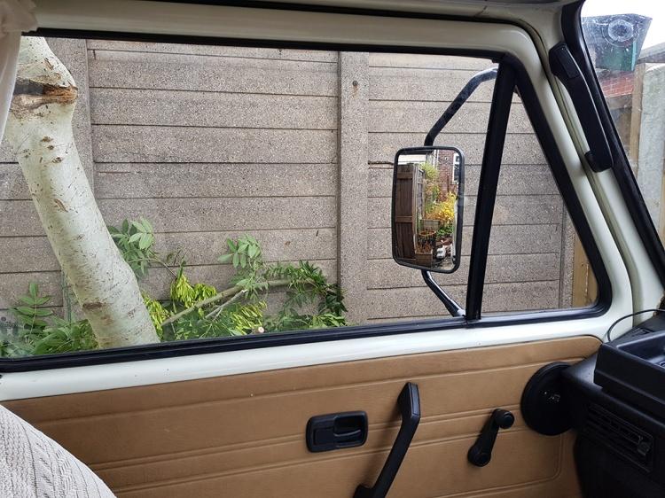 Truck mirror - left side